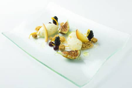 Seville Orange Cheesecake, Glazed Figs