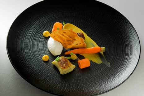 Goats Cheese Mouse, Herb Gnocchi, Textures Of Carrot